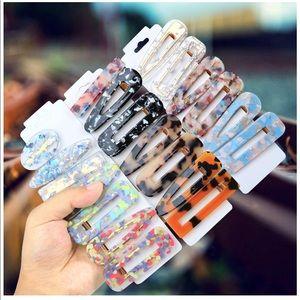 Set of 20 women's acrylic hair clips